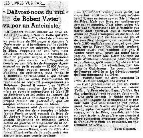 Albert Jeannin évoque Robert Vivier