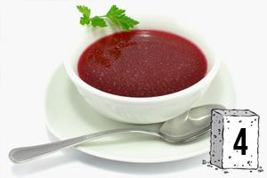 Des sucres dans les soupes industrielles