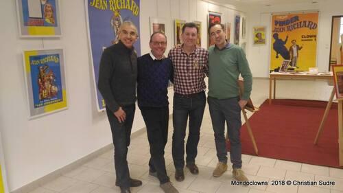 """mon exposition """" les clowns chez jean Richard"""" pour Mondoclowns 2018 à Marmande"""