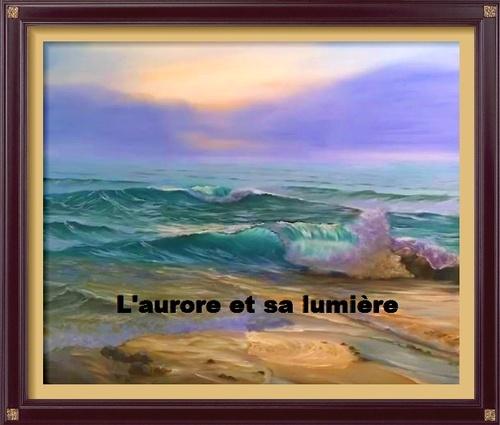 Dessin et peinture -  vidéo 2988 : Comment peindre les premières lueurs de l'aurore sur la mer 1 ? - acrylique ou huile.