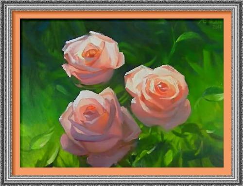 Dessin et peinture - vidéo 2536 : Comment rendre la transparence des pétales de roses ? - Acrylique ou huile