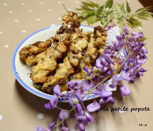 Beignets de fleurs de glycine