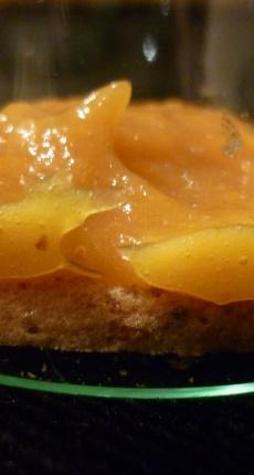 Verrines pistache, abricot poivré