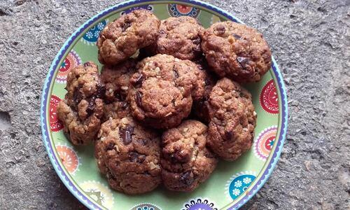 Cookies Chocolat/Noisettes #2 {Vegan}