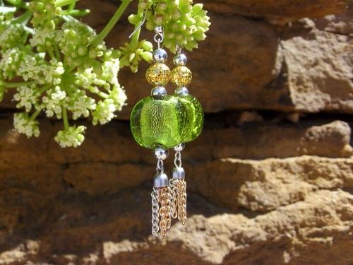 Boucles d'oreilles en perles de verre de Murano