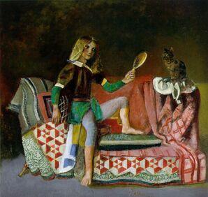 Né le 29 Février 1908, Balthus, Peintre , Poissons ascendant Cancer, Lune en Verseau