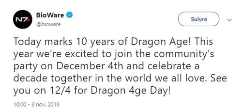 NEWS : Dragon Age 4, ce que nous en savons, selon PC Gamer*