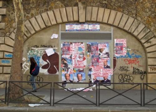 Affiche élections présidentielles Sarkozy étudiants 6251