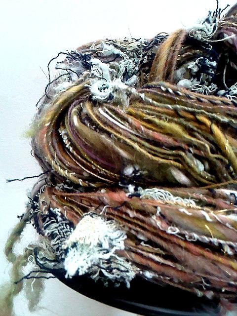 filage recyclé pour tissage et bijoux  janvier 2013