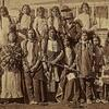Thirteen Northern Arapaho and two Eastern Shoshone children as they arrived at the Carlisle Indian I