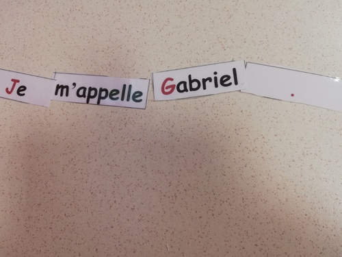 nos premières phrases...