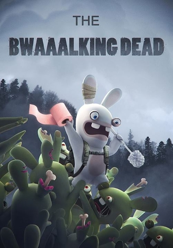 lapins crétins the walking dead