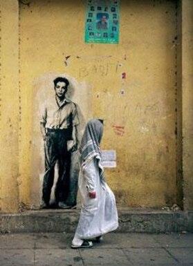 Ernest Pignon-Ernest, Parcours Maurice Audin, Alger, 2003