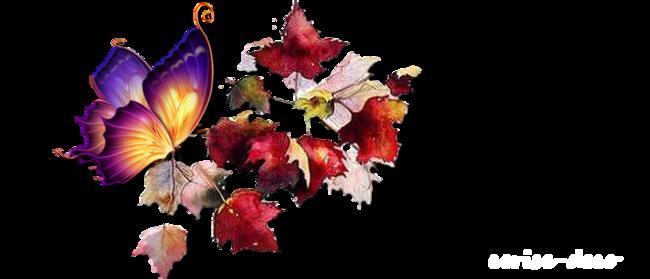 design automne papillonnant