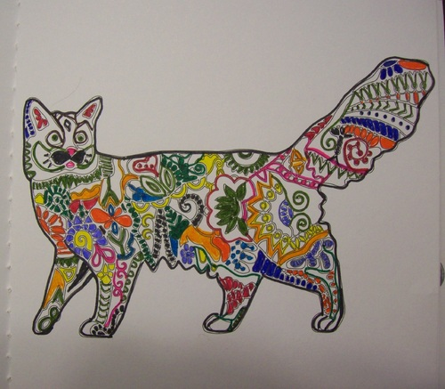 Coloriage cahier chats