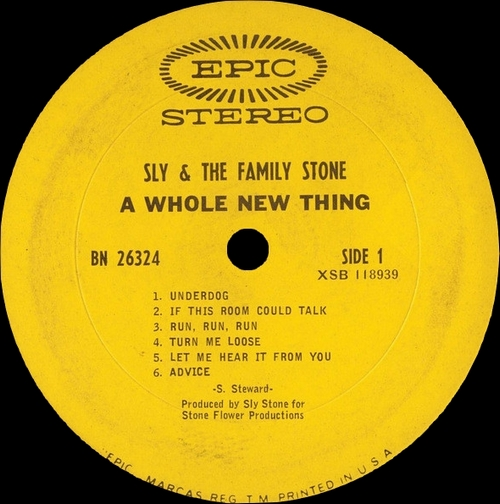 "Sly & The Family Stone : Album "" A Whole New Thing "" Epic Records BN 26324 [US]"