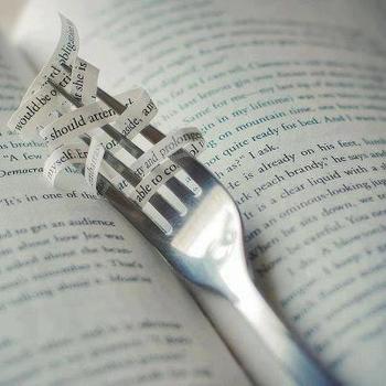 fourchette gourmande de livre