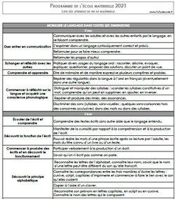 [outils pour l'enseignant] les nouveaux programmes et les attendus de fin de GS 2021
