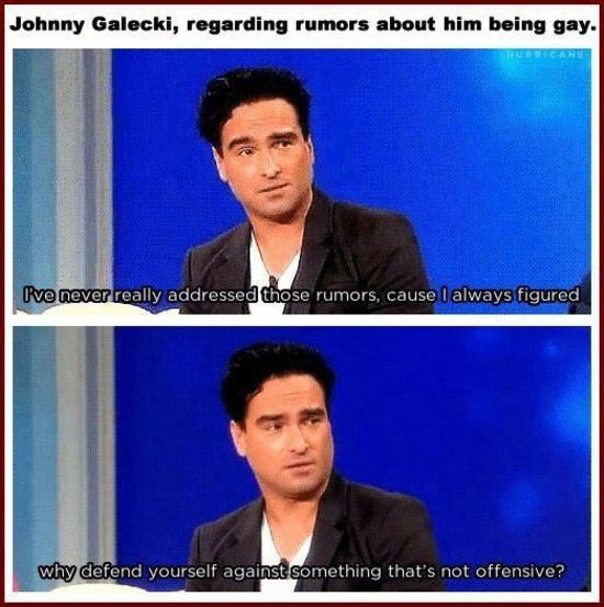 johnny galecki gay