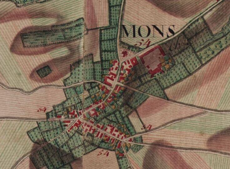 Mons-les-Liège (carte Ferraris 1770-1778)(balnam.be)