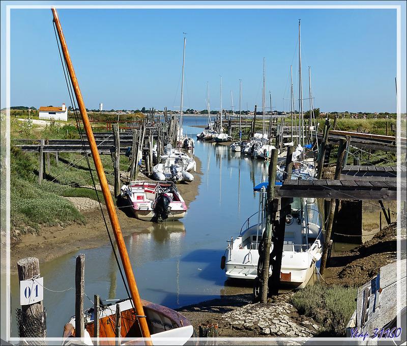 Le petit port du Goisil en cours de marée - La Couarde-sur-Mer - Île de Ré - 17
