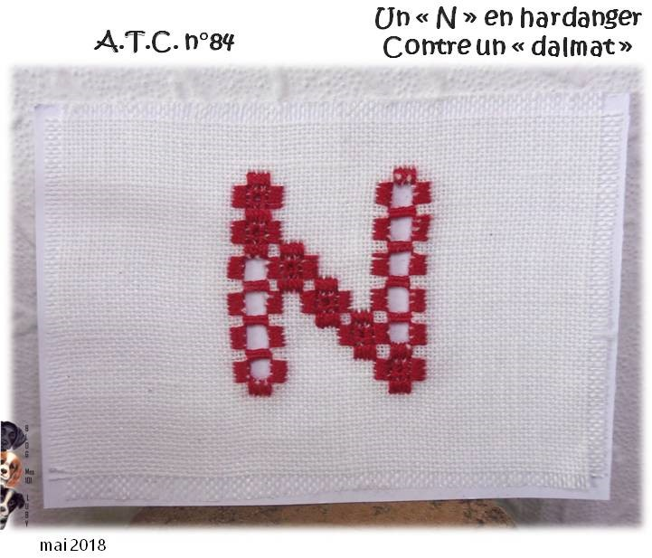 "ATC ""N"" en hardanger contre une ATC ""dalmat"""