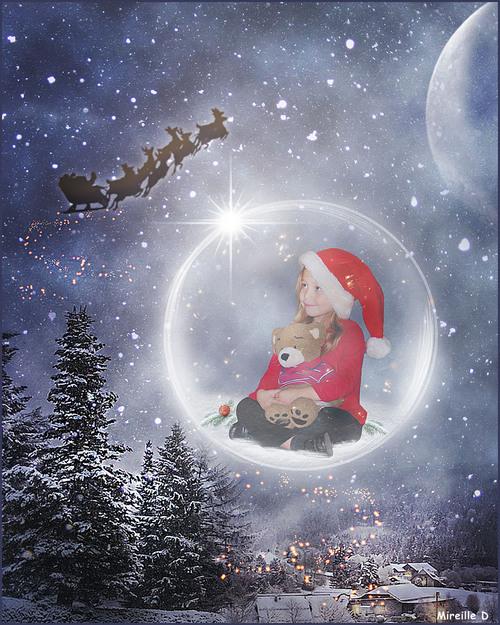 Bulle Magique de Noël (Photomontage)
