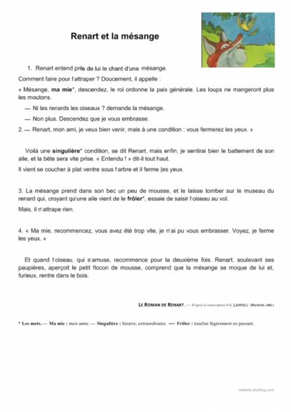 Textes de lecture CE1 autour de la ruse
