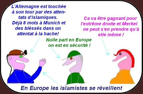 Attentats, agressions et autres méfaits, les islamistes se réveillent en Europe