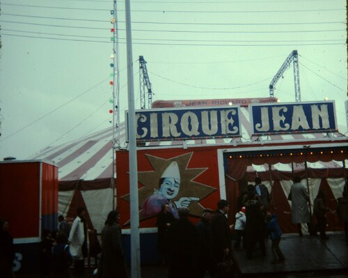 Le cirque Jean Richard à Saint Quentin en 1979 ( archives Vincent Bouderlique)