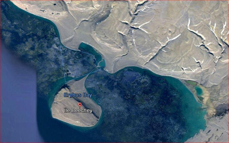 "24 août 2016 : débarquement à Erebus Bay, 74° 42' 54"" Nord, 91° 49' 34"" Ouest - Beechey Island (touche Devon Island) - Baffin Bay - Nunavut - Canada"