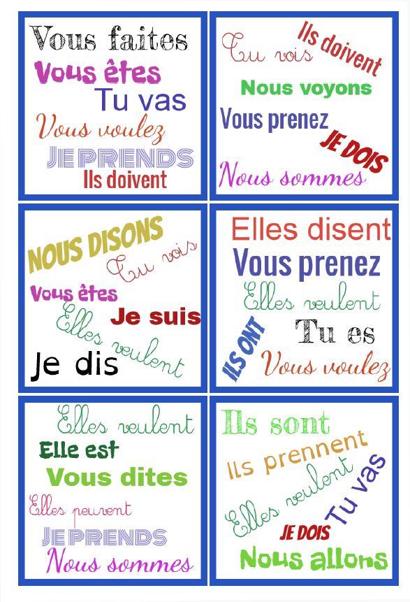 Dobble Present Verbes 3eme Groupe Nouveaux Programmes Chez Val 10