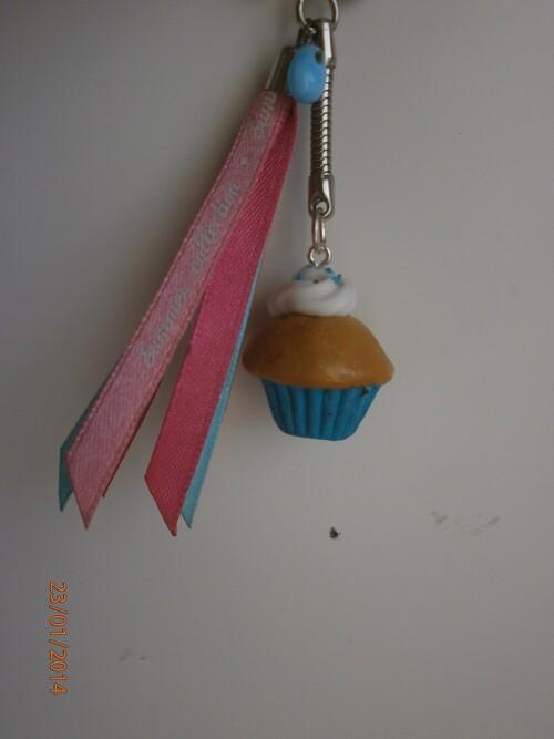cupcake bleu