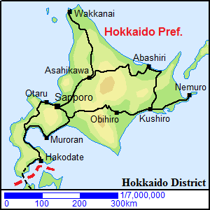 Image result for map of hokkaido