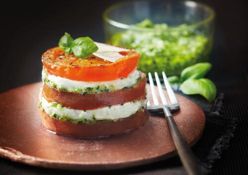 Mille-feuilles tomate mozzarella