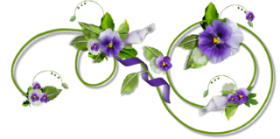 Séparateur avec fleurs