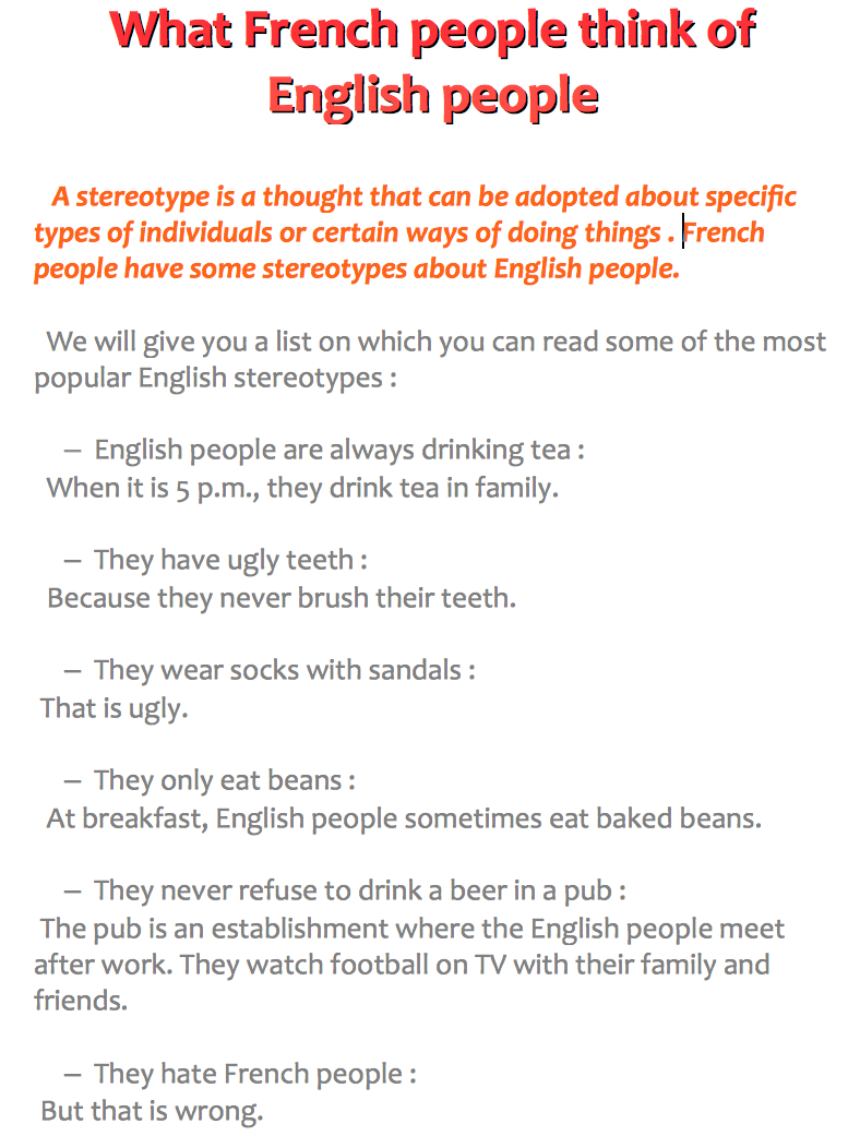 stereotypes about english people - paulette loves english