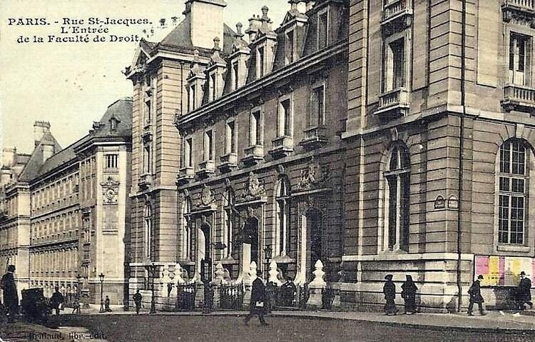 La nouvelle entrée de la Faculté de Droit, rue Saint-Jacques
