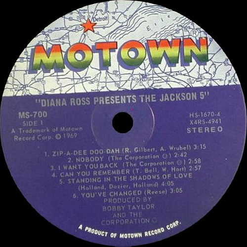 "The Jackson 5 : "" Diana Ross Presents The Jackson 5 "" Motown Records MS-700 [ US ]"