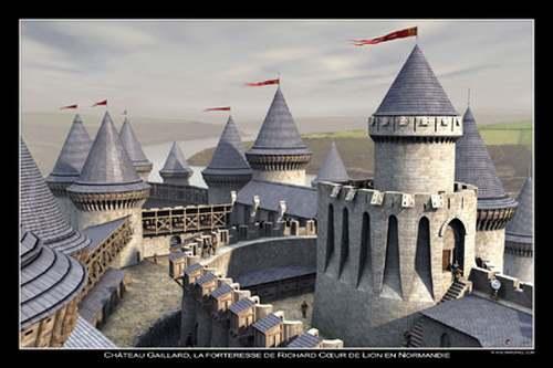 Château-Gaillard, une forteresse presque imprenable.