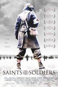 Saints & Soldiers : En décembre 1944, durant la Bataille des Ardennes, le caporal Nathan Greer et Gordon Gunderson se retrouvent emprisonnés avec une centaine de soldats américains. Les soldats allemands ouvrent le feu. Le caporal Greer, son ami Gunderson et quelques soldats arrivent à échapper au massacre, ils devront...-----... PAYS : Américain GENRES : Guerre, Drame ANNÉE : 2003 DURÉE : 01:30