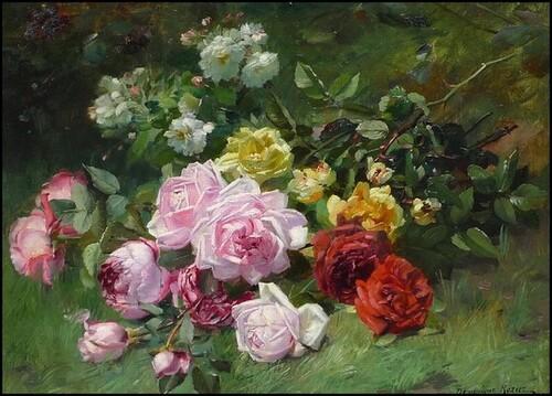 Nature morte  aux Roses de Dominic Rozier