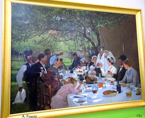 """""""Repas de Noces à Yport"""" - (A. Fourié )"""