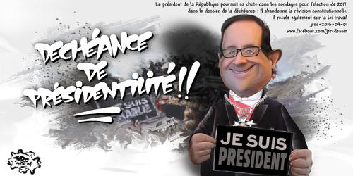 JERC 2016-04-01, caricature François Hollande. Quand renonce-t-il à la loi travail ? www.facebook.com/jercdessin Cliquer sur la photo pour voir en plus grand
