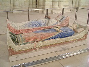 Abbaye Fontevrault Henri II et Aliénor