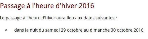 **   LE MOMENT EST VENU : CHANGER D'HEURE..!!