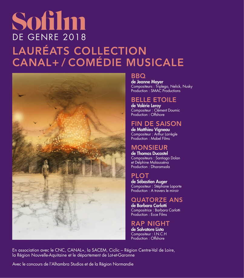 Lauréats collection Canal+ - Sofilm 2018 / COMEDIE MUSICALE