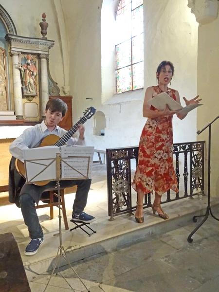 Augustus Woodrow et Camille Van Lunen ont enchanté le public dans l'église d' Essarois