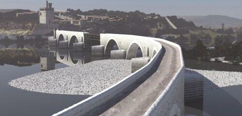 Les ponts sur le Rhône - 1/ le pont Saint Bénezet