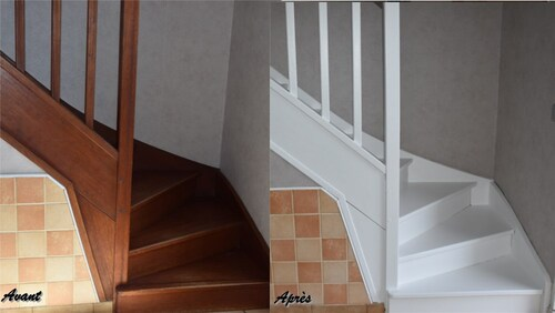 Escalier repeint...